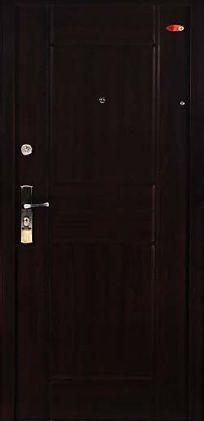Sötétmogyoró Hi Sec biztonsági ajtó bérházba
