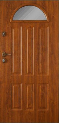 Gerda GTT - aranytölgy üveges kültéri biztonsági ajtó