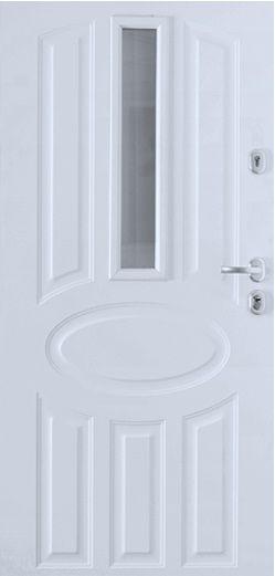 Gerda GTT - fehér üveges kültéri biztonsági ajtó